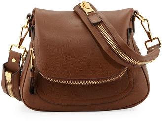 Tom Ford Jennifer Medium Leather Crossbody Bag, Caramel