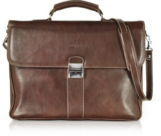 Robe Di Firenze Dark Brown Double Gusset Leather Briefcase