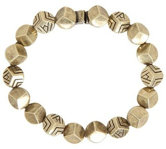 House Of Harlow Engraved Rocky Tennis Bracelet (14K Yellow Gold) - Jewelry