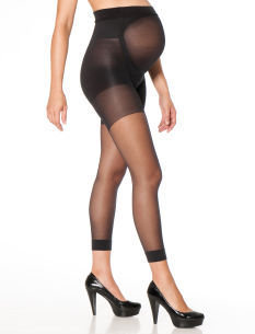 A Pea in the Pod Mama Spanx TM Footless Maternity Cropped Pantyhose