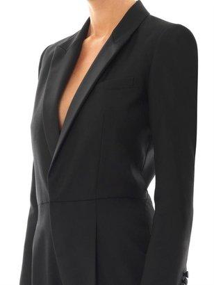 Saint Laurent Wool-gabardine tuxedo jumpsuit