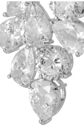 Kenneth Jay Lane Rhodium-plated cubic zirconia clip earrings