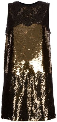 Dolce & Gabbana lace sequinned dress