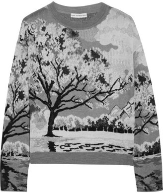 Mary Katrantzou Landscape-intarsia knitted sweater
