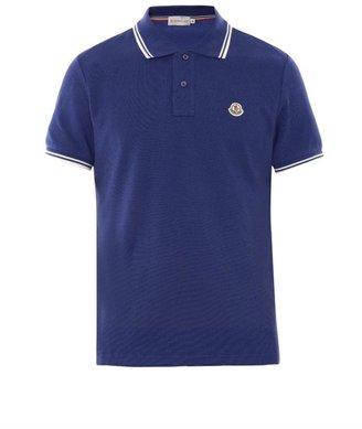 Moncler Cotton-piqué polo shirt