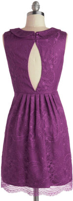 Feeding the Doves Dress in Plum