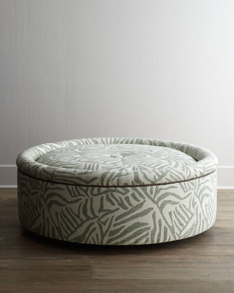 """Old Hickory Tannery Lancy"""" Swivel Ottoman"""