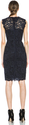 Valentino Tubino Tank Lace Dress in Navy