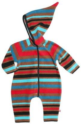 Zutano Cozie Fleece Bold Stripe Elf Bodysuit