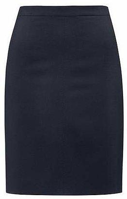 HUGO BOSS Regular-fit pencil skirt in virgin wool blend
