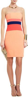 BCBGMAXAZRIA Reesie Strapless Color-Block Dress