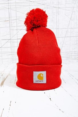 Carhartt Watch Bobble Hat in Red