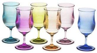 Williams-Sonoma Pina Colada Multi-Color Glasses, Set of 6