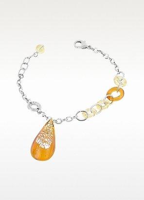 Murano Antica Murrina Trinity Glass Drop Charm Bracelet