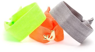 Gorjana Love Bird Charm Hair Tie Set