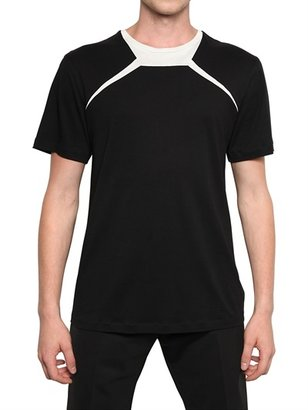 Thierry Mugler Contrasting Colour Cotton Jersey T-Shirt