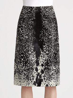 Michael Kors Pony Print Haircalf Skirt