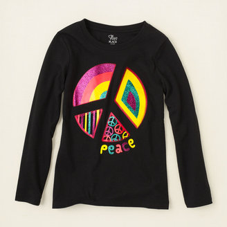 Children's Place Peace pie graphic tee