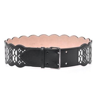 Azzedine Alaia Laser-cut scalloped belt