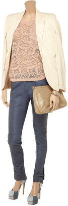 See by Chloe Linen-blend lace top