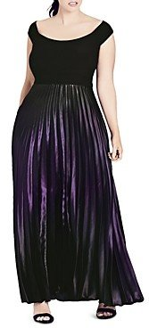 City Chic Passion Ombre Maxi Dress