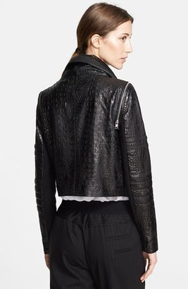 Yigal Azrouel Stamped Leather Jacket