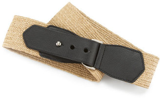 Anne Klein Stretch Straw Panel Belt