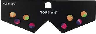 Topman Colourful Collar Tip Studs