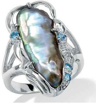 Spiegel Biwa Pearl Silver Ring