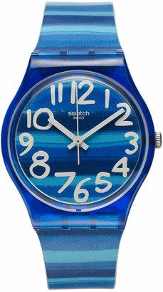 Swatch Watch, Unisex Swiss Linajola Multi-Color Plastic Strap 34mm GN237 $60 thestylecure.com