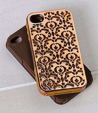 Jet Set Tech Candy iPhone 4/4S Metal Effects Bordeaux Case Set