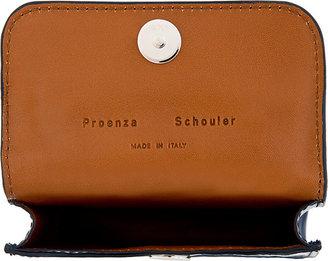 Proenza Schouler Cadet Blue Patent Leather PS11 Card Case