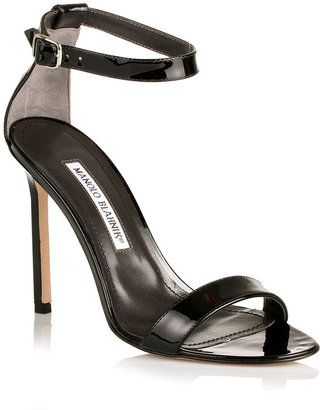 Manolo Blahnik Chaos 105 patent leather sandal