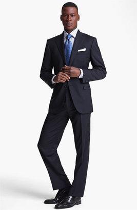 Canali Stripe Wool Suit Blue Stripe 56L EU