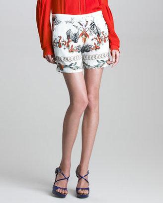Roberto Cavalli Printed Silk Shorts