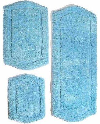 Chesapeake Merchandising Inc. Paradise Memory Foam 3 Piece Bath Rug Set