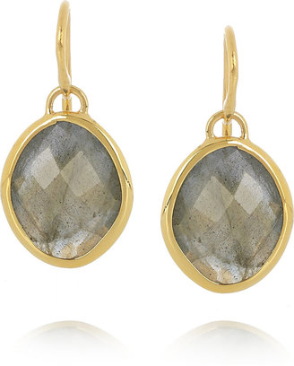 Monica Vinader Nugget 18-karat gold-vermeil labradorite earrings
