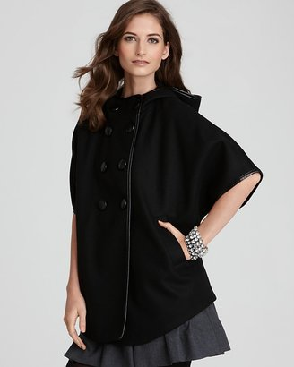 DKNY Double Breasted Cape Coat