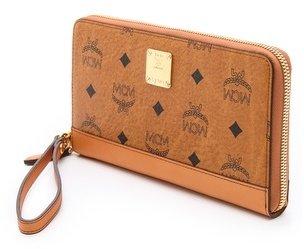 MCM Heritage Large Zip Wallet with Wristlet