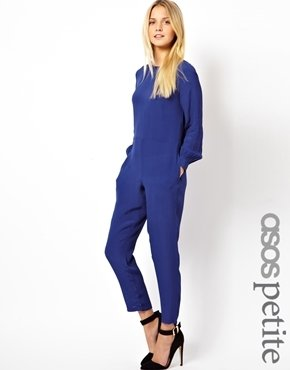 Asos Simple Jumpsuit with Long Sleeves - Blue
