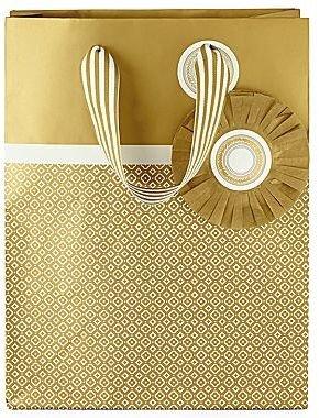 JCPenney MarthaCelebrationsTM Gift Bag – Gold Foil