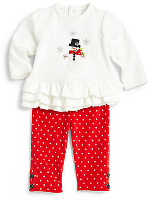 Hartstrings Infant's Two-Piece Snowman Tunic & Leggings Set
