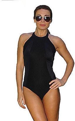 Fit 4 U High-Neck One-Piece Swimsuit