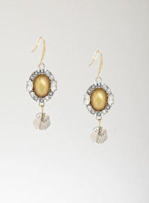 Stein & Blye Round Stone Drop Earrings