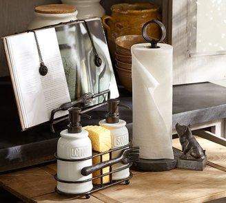 Pottery Barn Vintage Blacksmith Pig Paper Towel Holder
