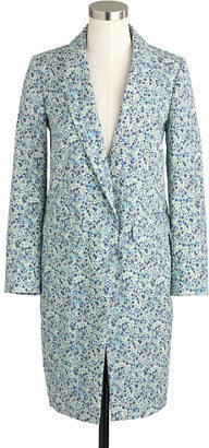 J.Crew Collection Liberty topcoat in Phoebe floral