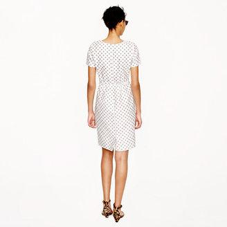 J.Crew Collection dot foulard dress