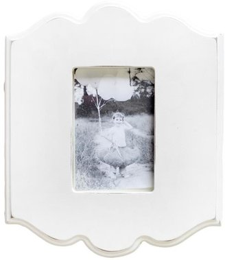 White Carved Wall Frame Rectangle