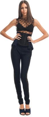 Nina Ricci Silk Crepe Corset Belt