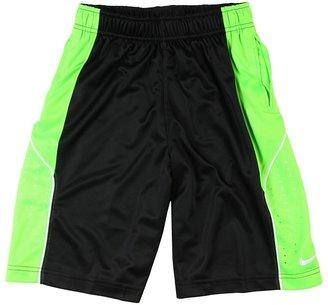 Nike Elite Knit Short '12 (Big Kids) (Black/Electric Green/White/White) - Apparel